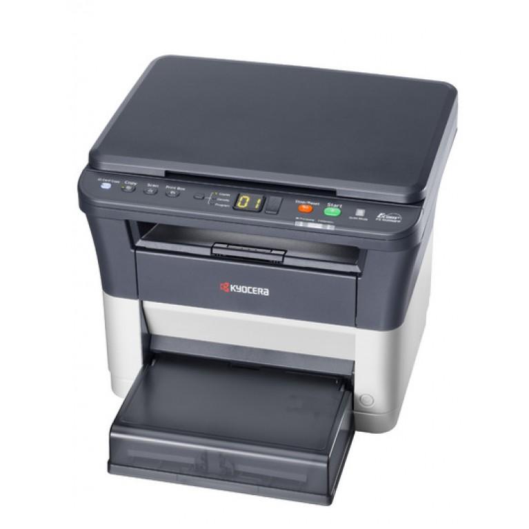 МФУ Kyocera FS-1020MFP (А4, 20 ppm, 1200dpi, 25-400%, 64Mb, USB, цв. сканер, крышка, пуск. комплект)
