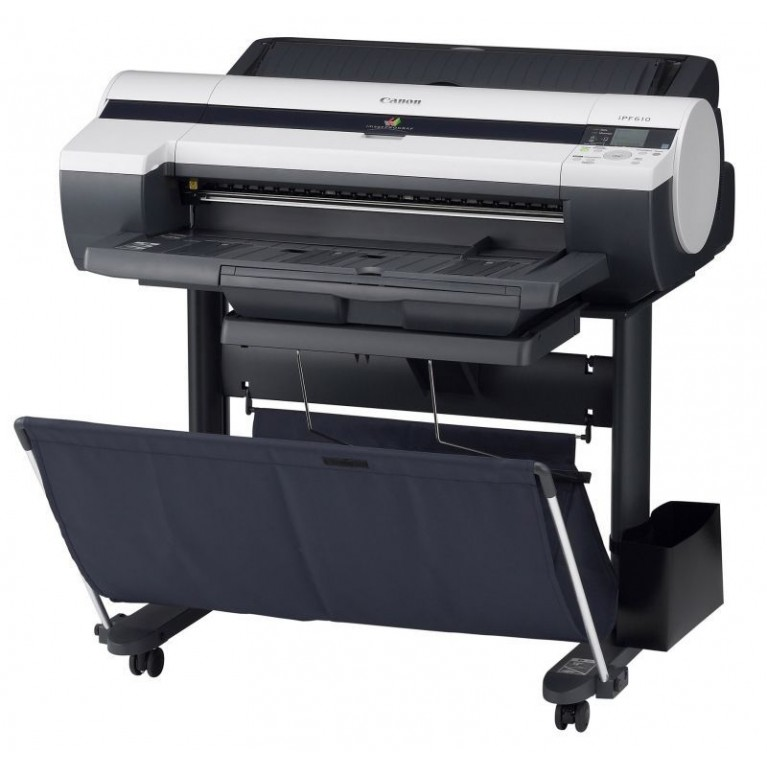 """Плоттер Canon imagePROGRAF iPF610, A1 (24""""), 2400x1200 dpi, пятицветная печать, интерфейс Hi-Speed USB 2.0/ Ethernet, 4 пкл, печать без полей, печать на рулонных и листовых носителях, автоматический резак."""