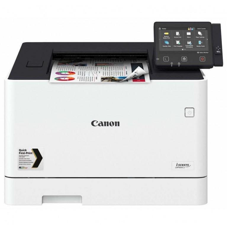 Принтер Canon i-SENSYS LBP664Cx цв. лазерный, А4, 27 стр./мин., Экран 12,7 см, USB 2.0, 10/100/1000-TX, Wi-Fi, подд. uniFLOW