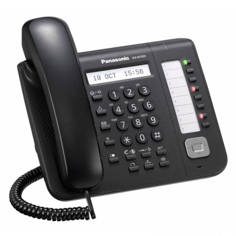 IP телефон Panasonic KX-NT551RU-B