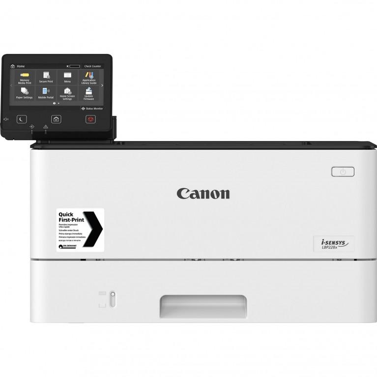 Принтер Canon i-SENSYS LBP228x (ЧБ, А4, 38 стр./мин., 250 л., USB 2.0, 10/100/1000-TX, Wi-Fi, дуплекс, сенсорный экран, PS)
